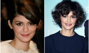 Audrey Tautou's eyes and hair color