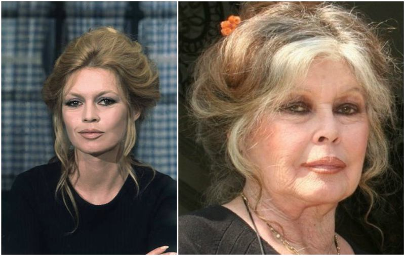 Brigitte Bardot's eyes and hair color