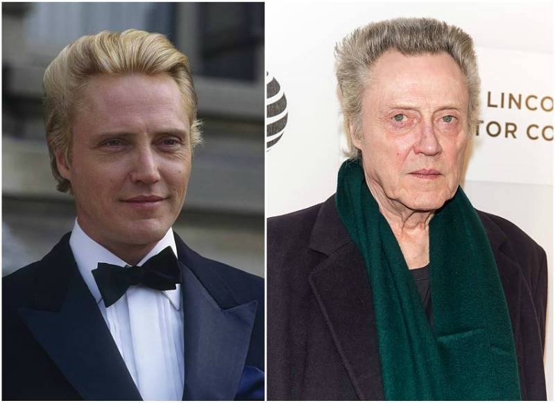 Christopher Walken's eyes and hair color