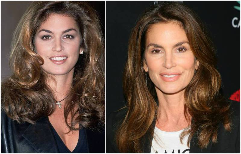 Cindy Crawford's eyes and hair color