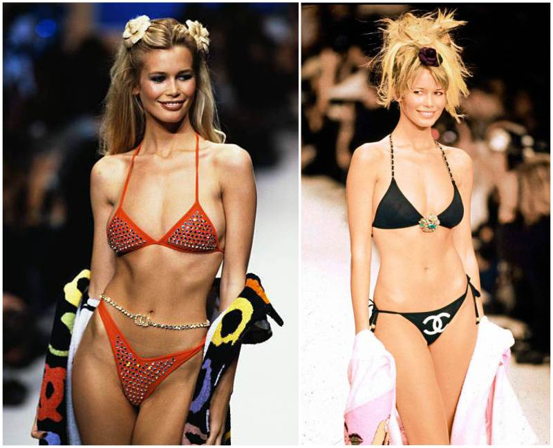 Claudia Schiffer's height, weight. Secrets of slim body