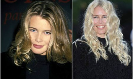 Claudia Schiffer's eyes and hair color