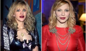 Courtney Love Cobain's eyes and hair color