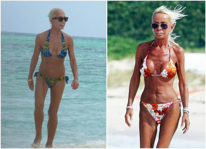 Donatella versace bikini photo