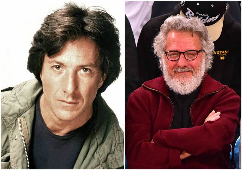 Dustin Hoffman's eyes and hair color