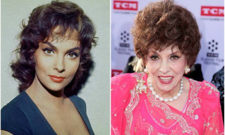 Gina Lollobrigida's eyes and hair color