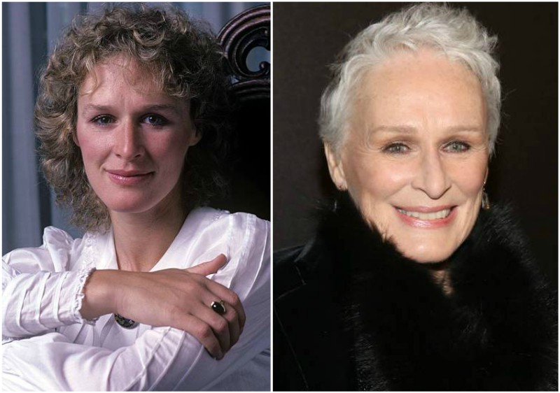 Glenn Close's eyes and hair color