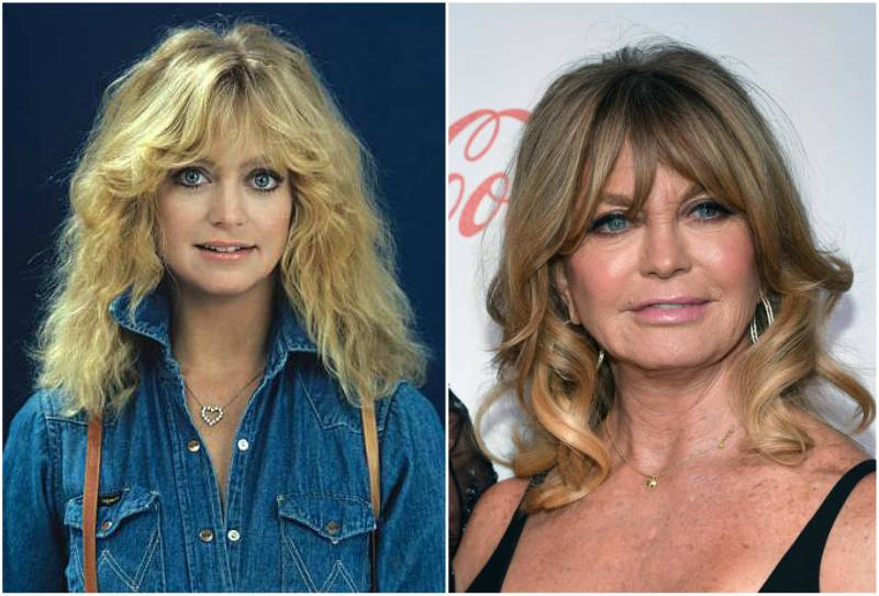 Goldie Hawn's eyes and hair color