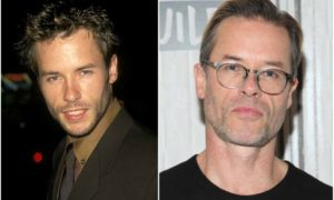 Guy Pearce's eyes and hair color