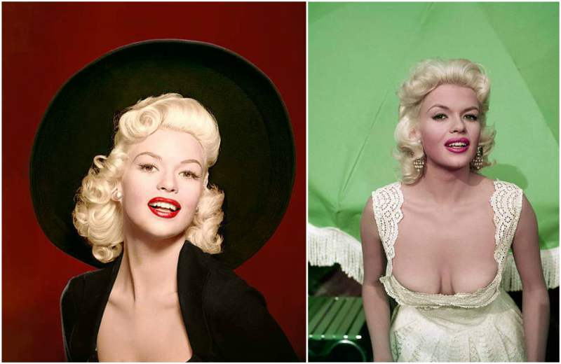 Jayne Mansfield's eyes and hair color
