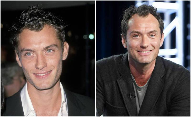 Jude Law's eyes and hair color