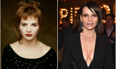 Juliette Binoche's eyes and hair color