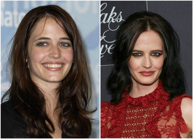 Eva Green's eyes and hair color