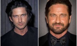 Gerard Butler's eyes and hair color