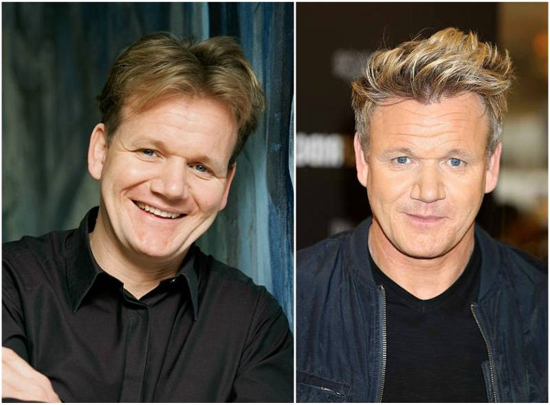 Gordon Ramsay's eyes and hair color