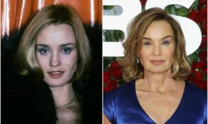 Jessica Lange's eyes and hair color