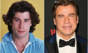 John Travolta's eyes and hair color
