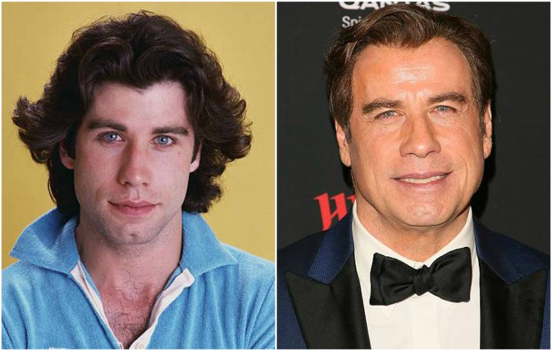 John Travolta's eyes and hair color