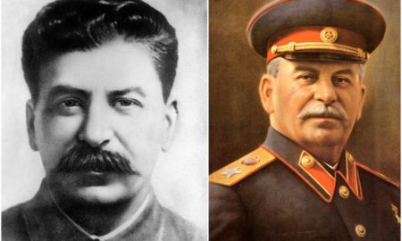 Joseph Stalin's eyes and hair color