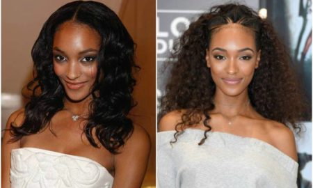 Jourdan Dunn's eyes and hair color