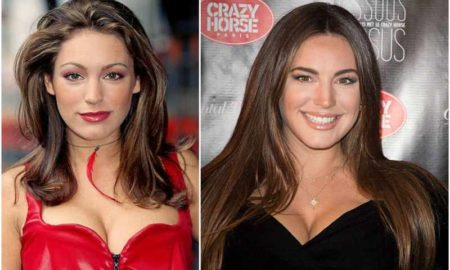 Kelly Brook's eyes and hair color
