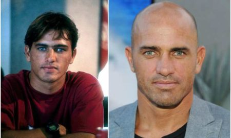 Kelly Slater's eyes and hair color