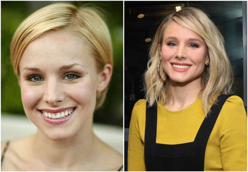 Kristen Bell's eyes and hair color