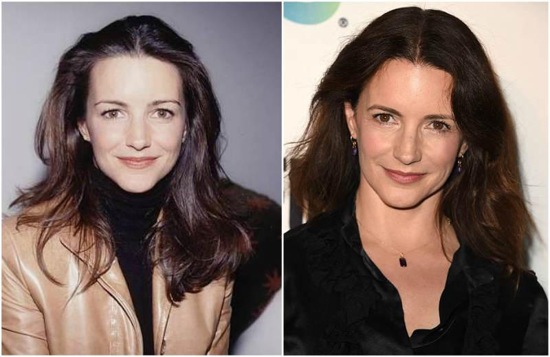 Kristin Davis' eyes and hair color
