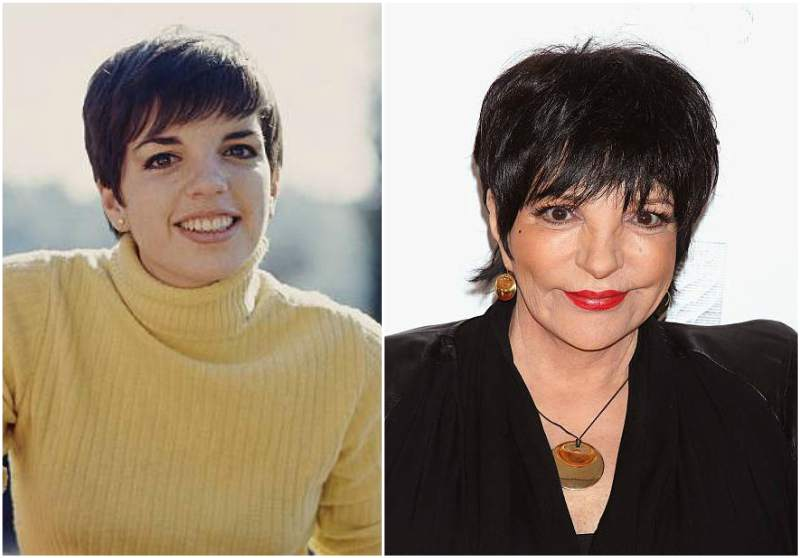 Liza Minnelli's eyes and hair color