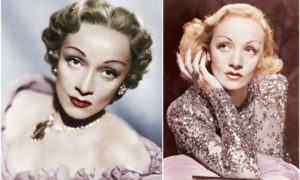 Marlene Dietrich's eyes and hair color