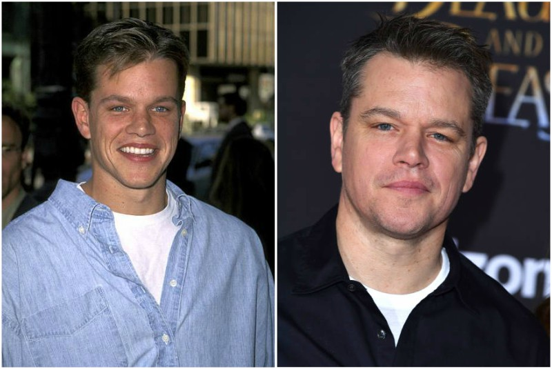 Matt Damon's eyes and hair color
