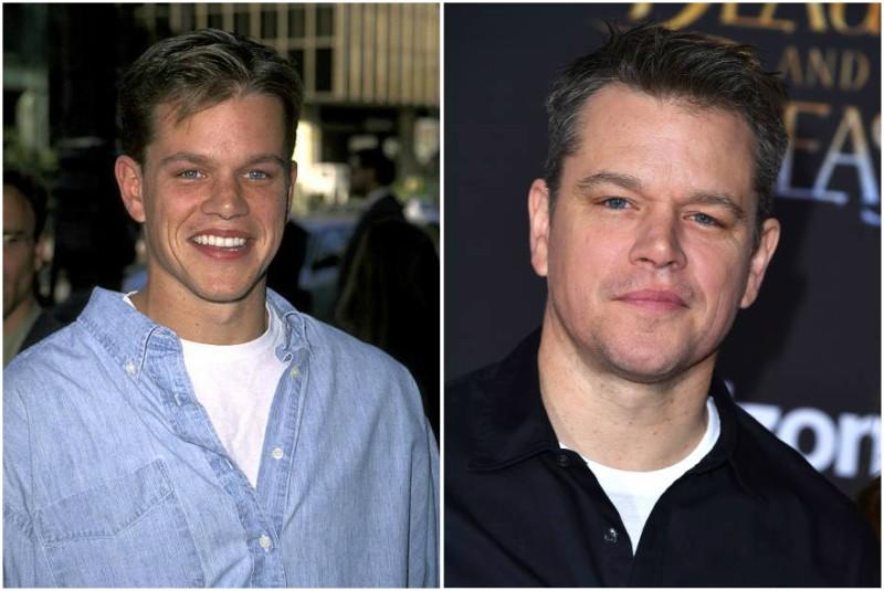 Matt Damon's eyes and hair color