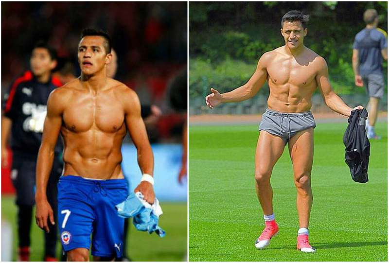 Alexis Sanchez's height, weight and body measurements