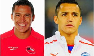 Alexis Sanchez's eyes and hair color