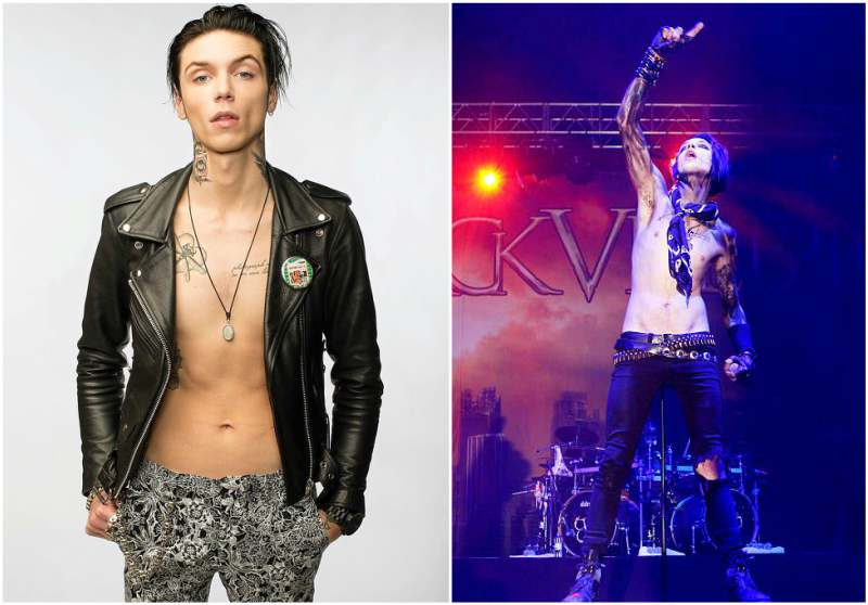 Andy Biersack's height, weight and body measurements
