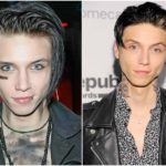 With or without emo make-up Andy Biersack looks handsome and fitted