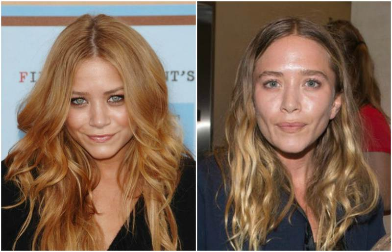 Mary-Kate Olsen's eyes and hair color