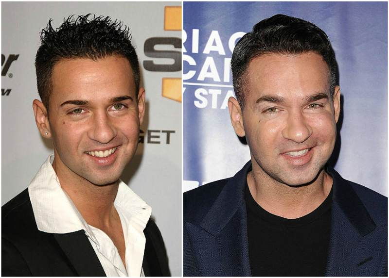 Mike Sorrentino's eyes and hair color