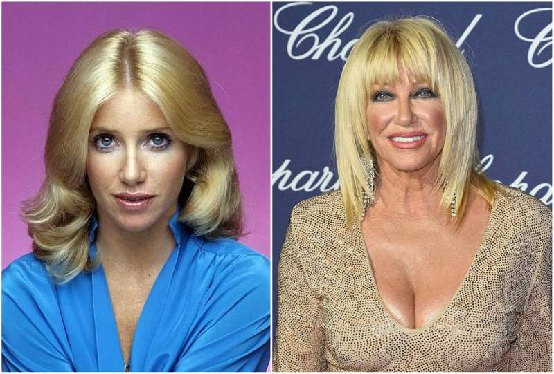 Suzanne Somers' eyes and hair color