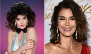 Teri Hatcher's eyes and hair color