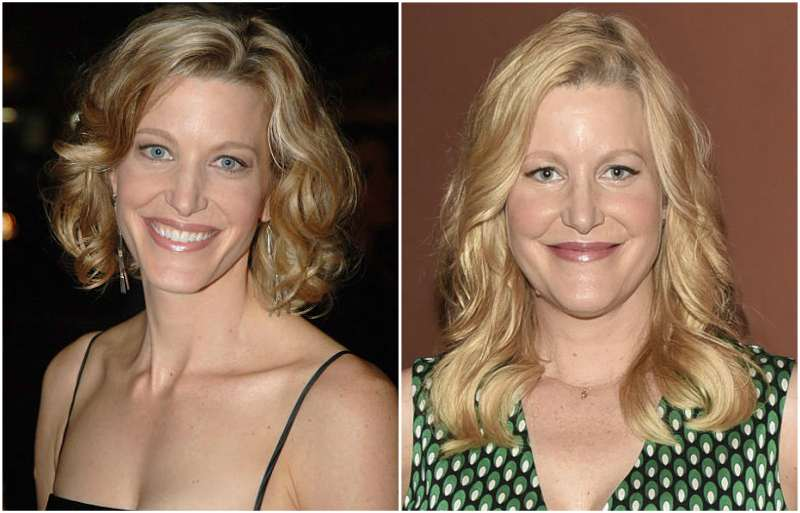 Anna Gunn's eyes and hair color