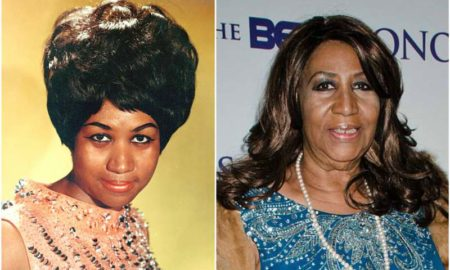 Aretha Franklin's eyes and hair color