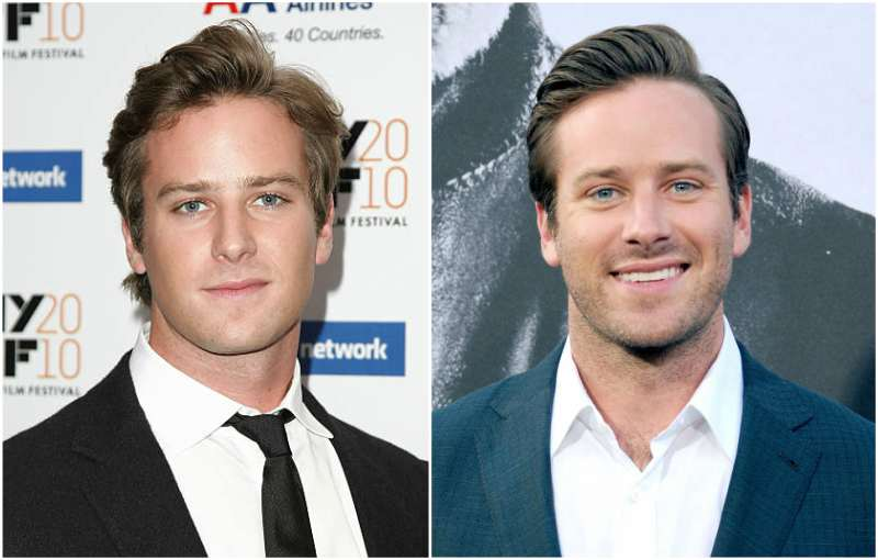 Armie Hammer's eyes and hair color