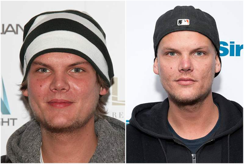 Avicii's eyes and hair color