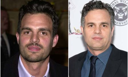 Mark Ruffalo's eyes and hair color
