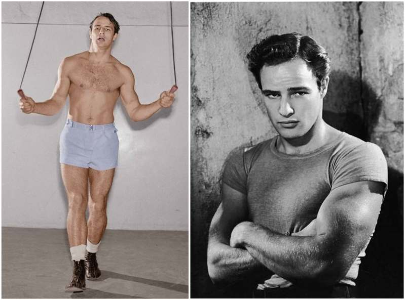 Marlon Brando's height, weight  and age