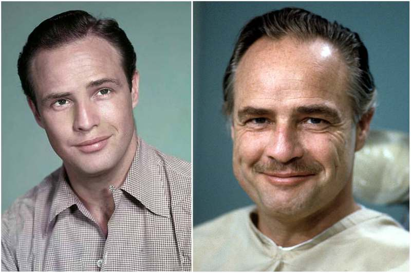 Marlon Brando's eyes and hair color