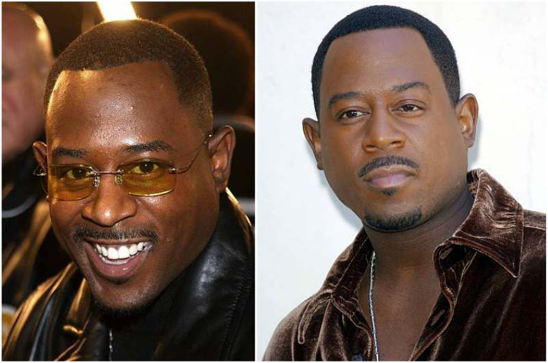 Martin Lawrence's eyes and hair color