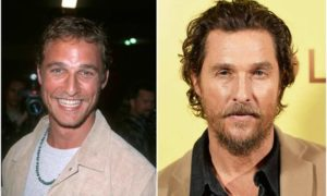 Matthew McConaughey's eyes and hair color