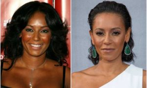 Mel B's eyes and hair color